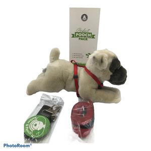 Pooch Pack Sz S Harness Leash Seatbelt Toy Breed